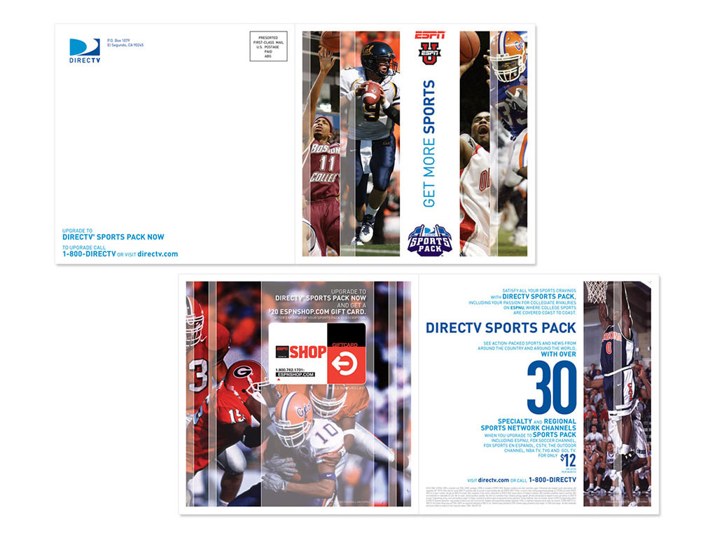 DIRECTV SPORTS PACK Direct Mail