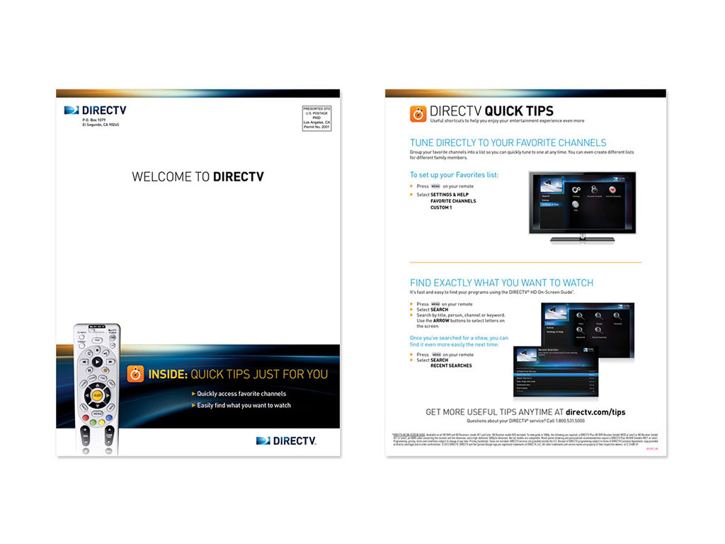DIRECTV QUICK TIPS Direct Mail